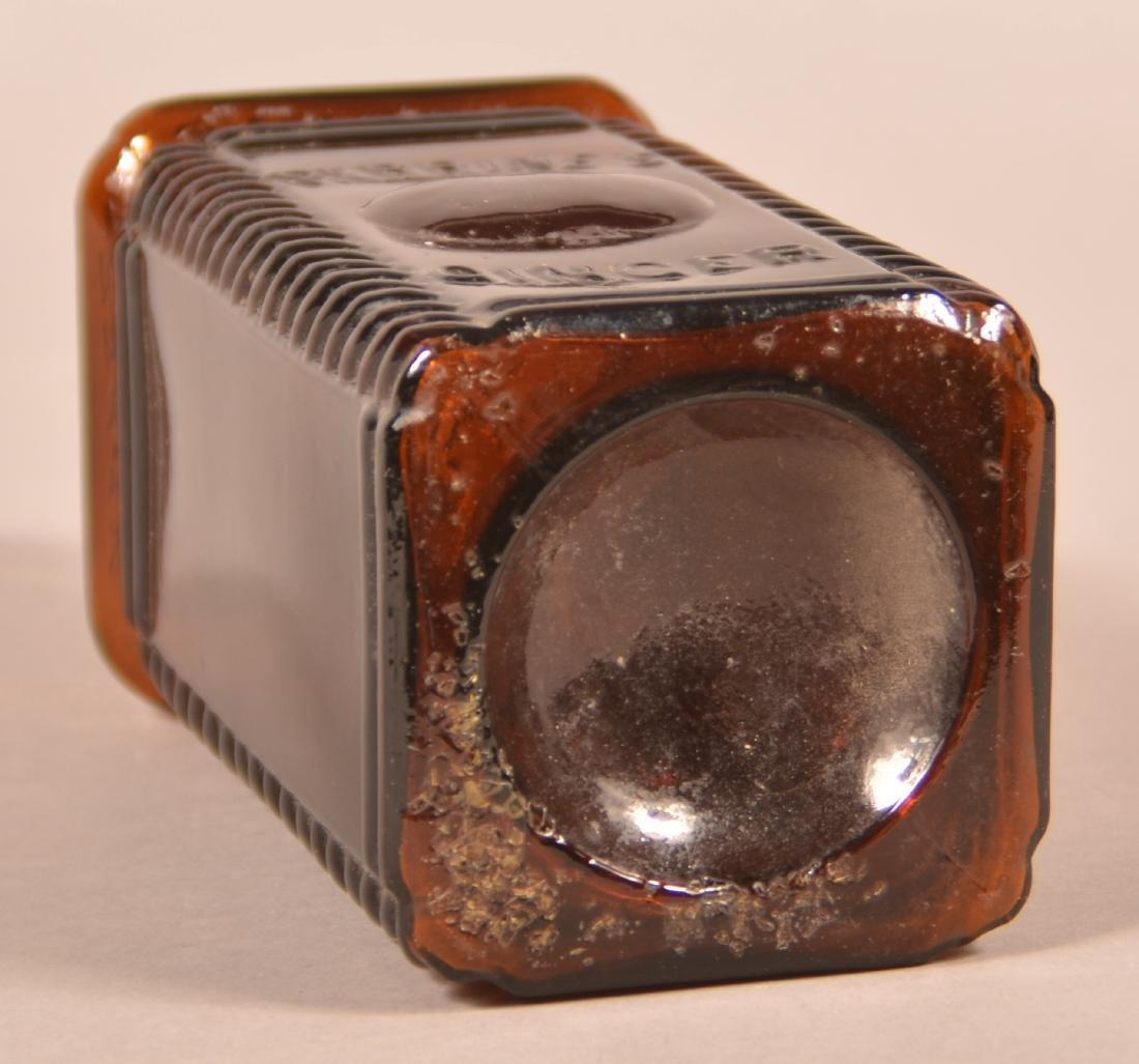 Perrines Apple Ginger Amber Glass Bitters Bottle. - 3