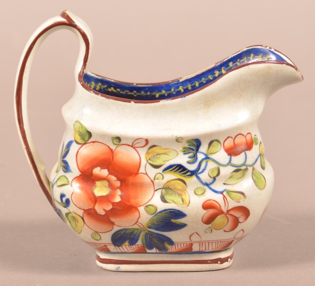 Gaudy Dutch China Single Rose Cream Pitcher.