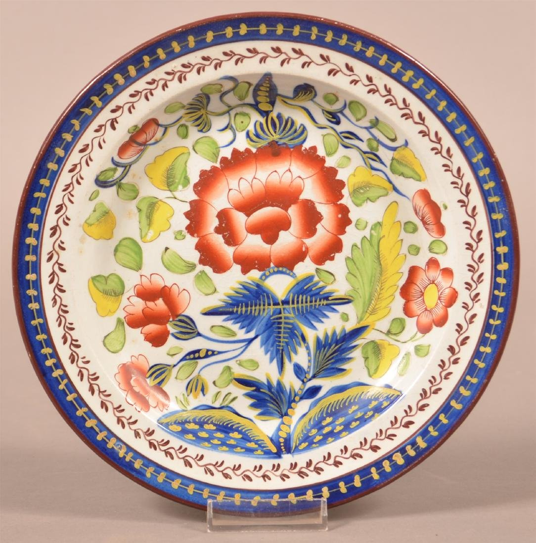 Gaudy Dutch China Carnation Pattern Plate.