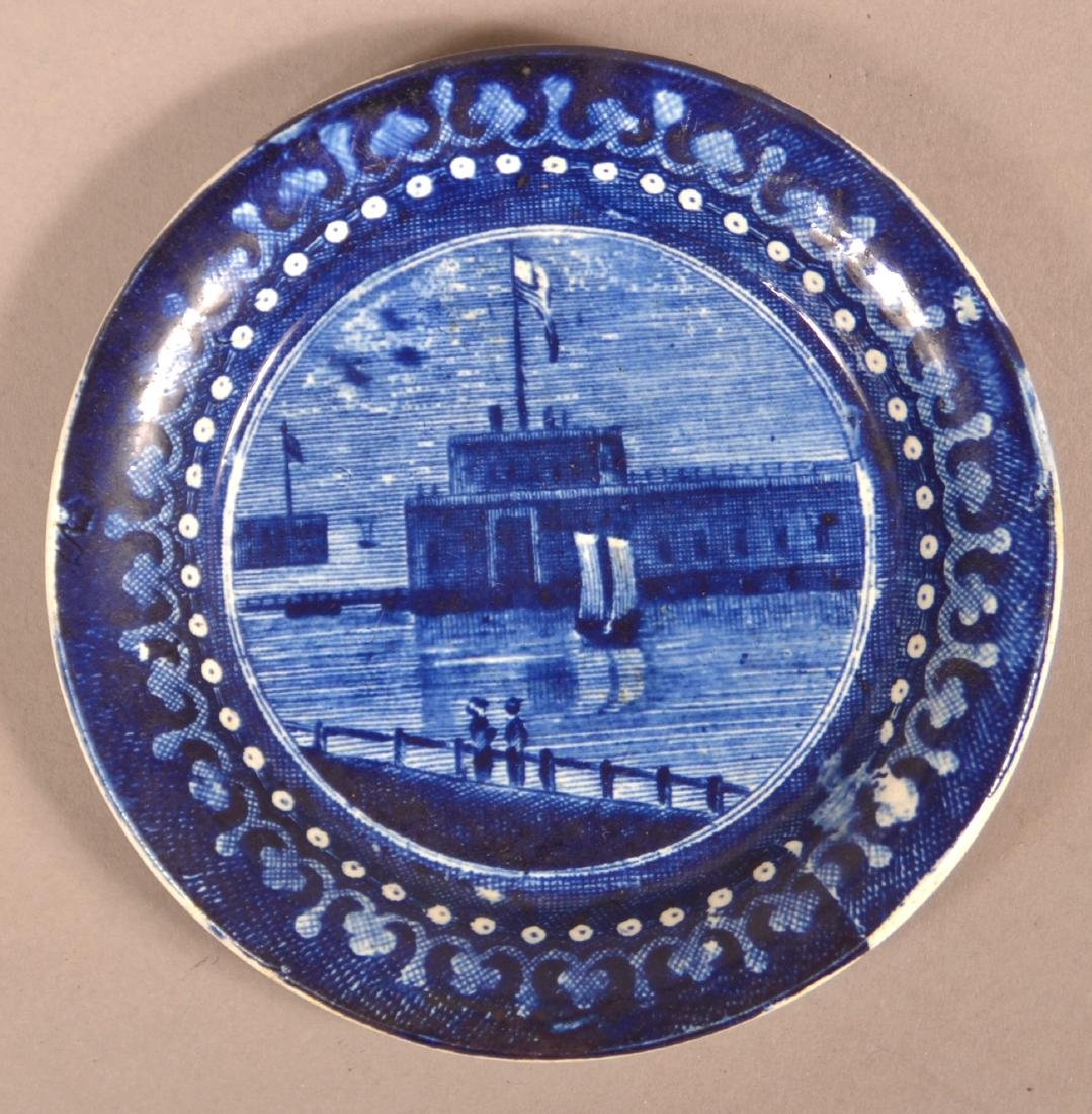 Historical Staffordshire Transfer Cup Plate.