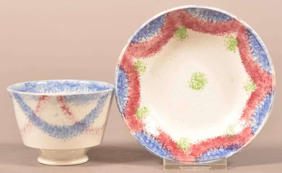 Two Pieces of Child's Size Spatterware China.