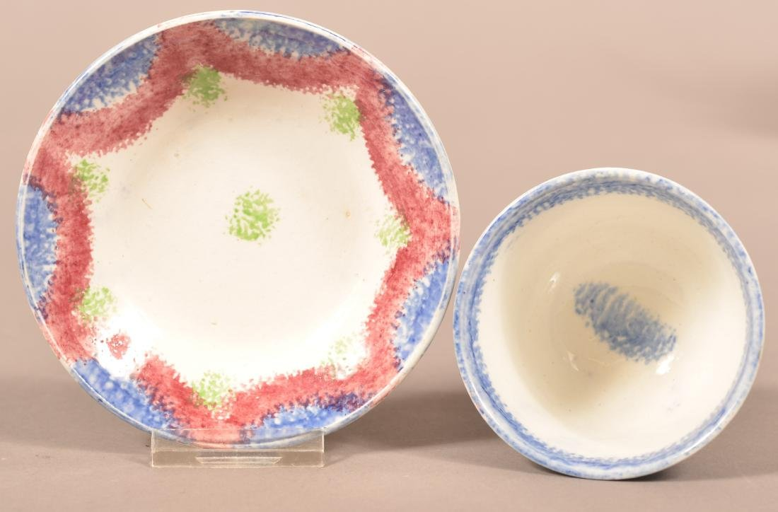 Two Pieces of Child's Size Spatterware China. - 2