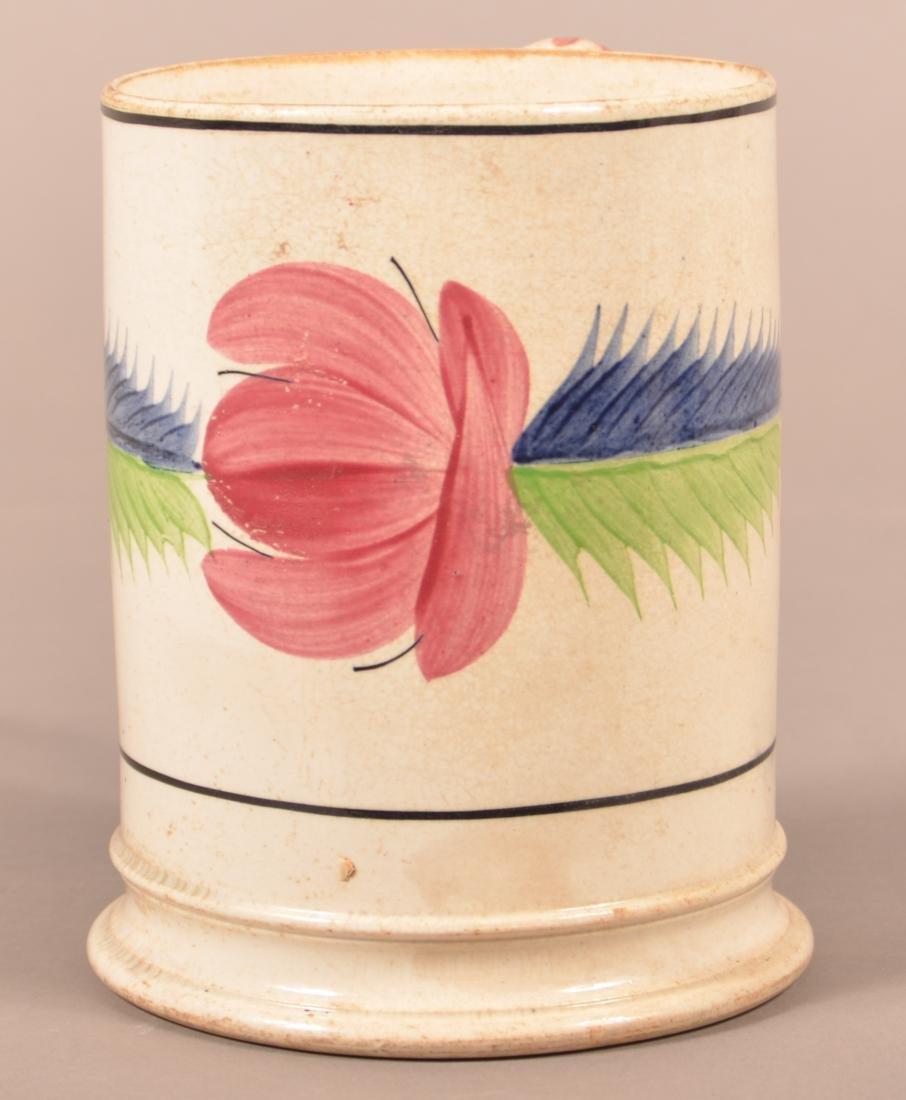 Large Staffordshire China Floral and Foliate Mug.