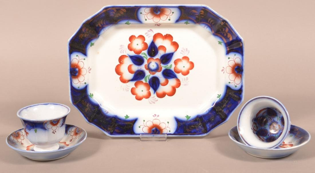 Lot of Gaudy Ironstone Pinwheel Pattern China.