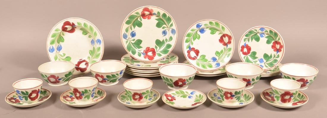 31 Pieces of Late Adams Rose Ironstone China.