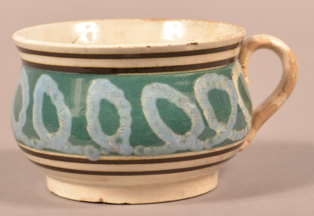 Mocha Earthworm Pattern China Squat Mug.