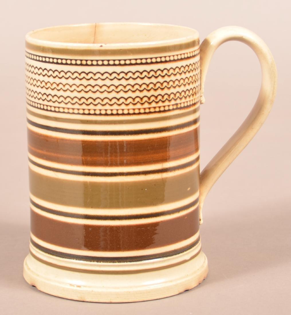 Mocha Band Decorated Soft Paste China Mug.