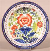Gaudy Dutch China Carnation Pattern Soup Plate