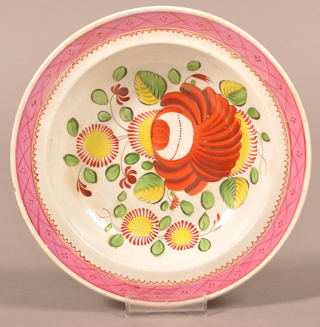 Kings Rose Pattern Soft Paste China Soup Plate.