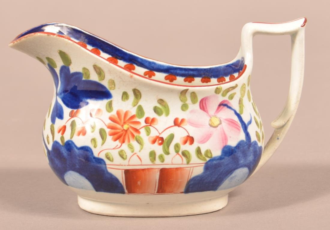 Gaudy Dutch China Double Rose Cream Pitcher.