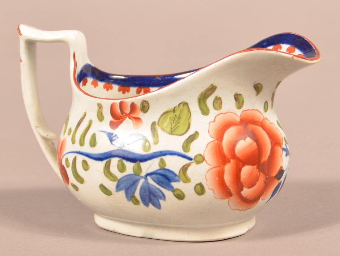 Gaudy Dutch China Double Rose Cream Pitcher. - 2