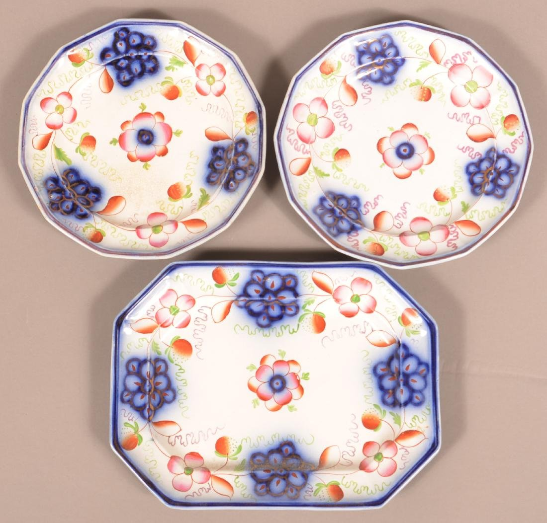 3 Pieces of Gaudy Ironstone Strawberry China.