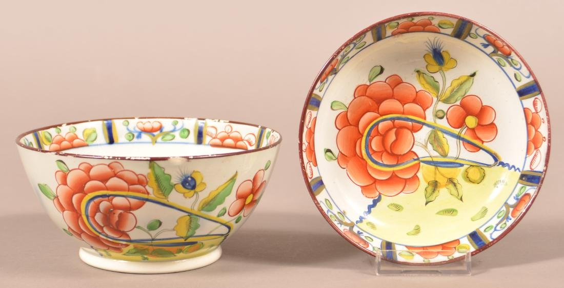 Two Pieces of Gaudy Dutch Oyster Pattern China.