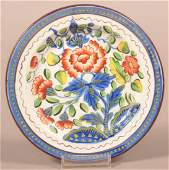 Gaudy Dutch China Carnation Pattern Toddy Plate