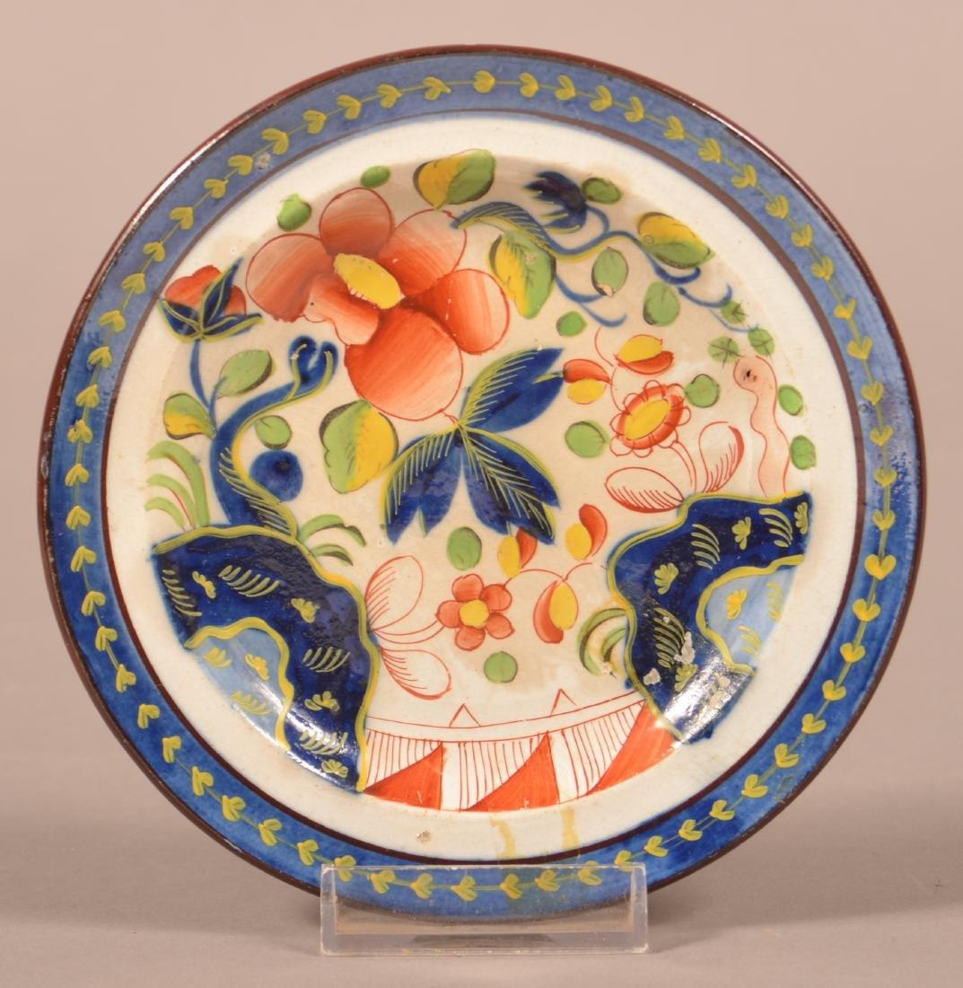 Gaudy Dutch China Single Rose Pattern Cup Plate.