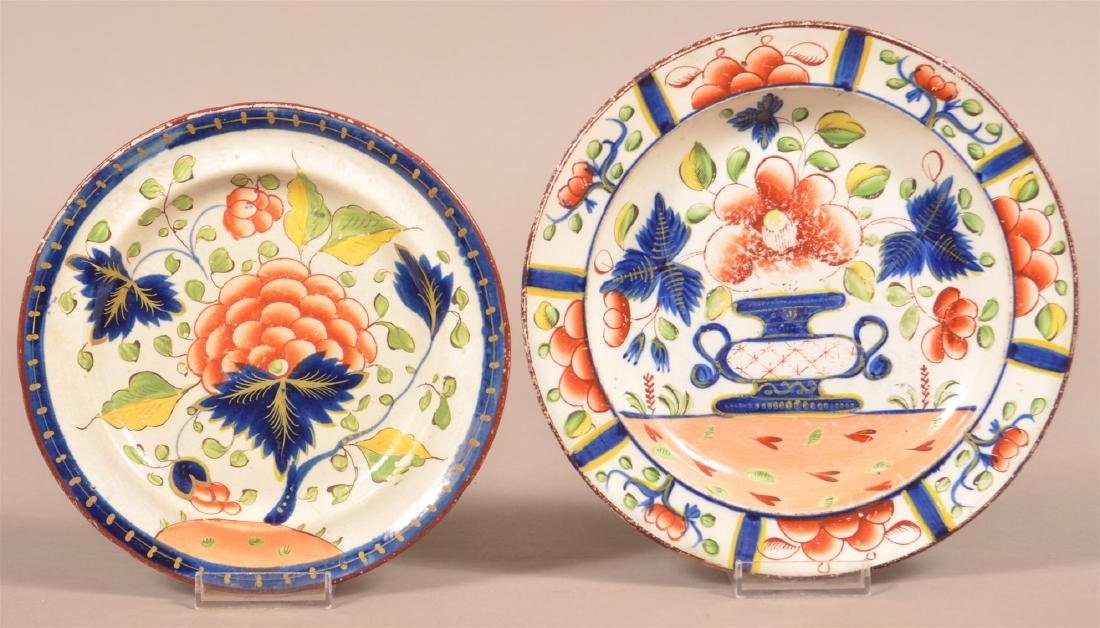 Two Gaudy Dutch Soft Paste China Plates.