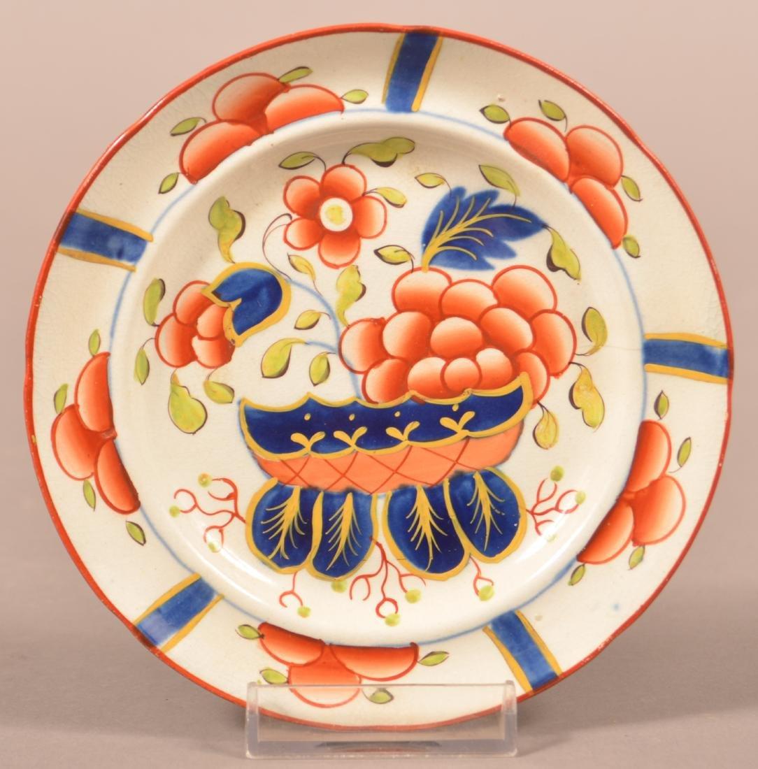 Gaudy Dutch China War Bonnet Pattern Cup Plate.