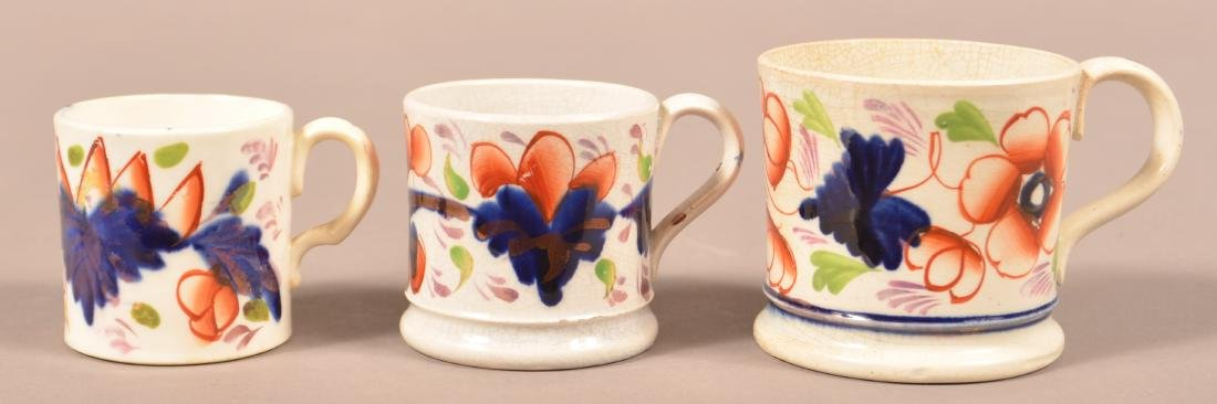 Three Various Gaudy Welsh Child's Size Mugs. - 2