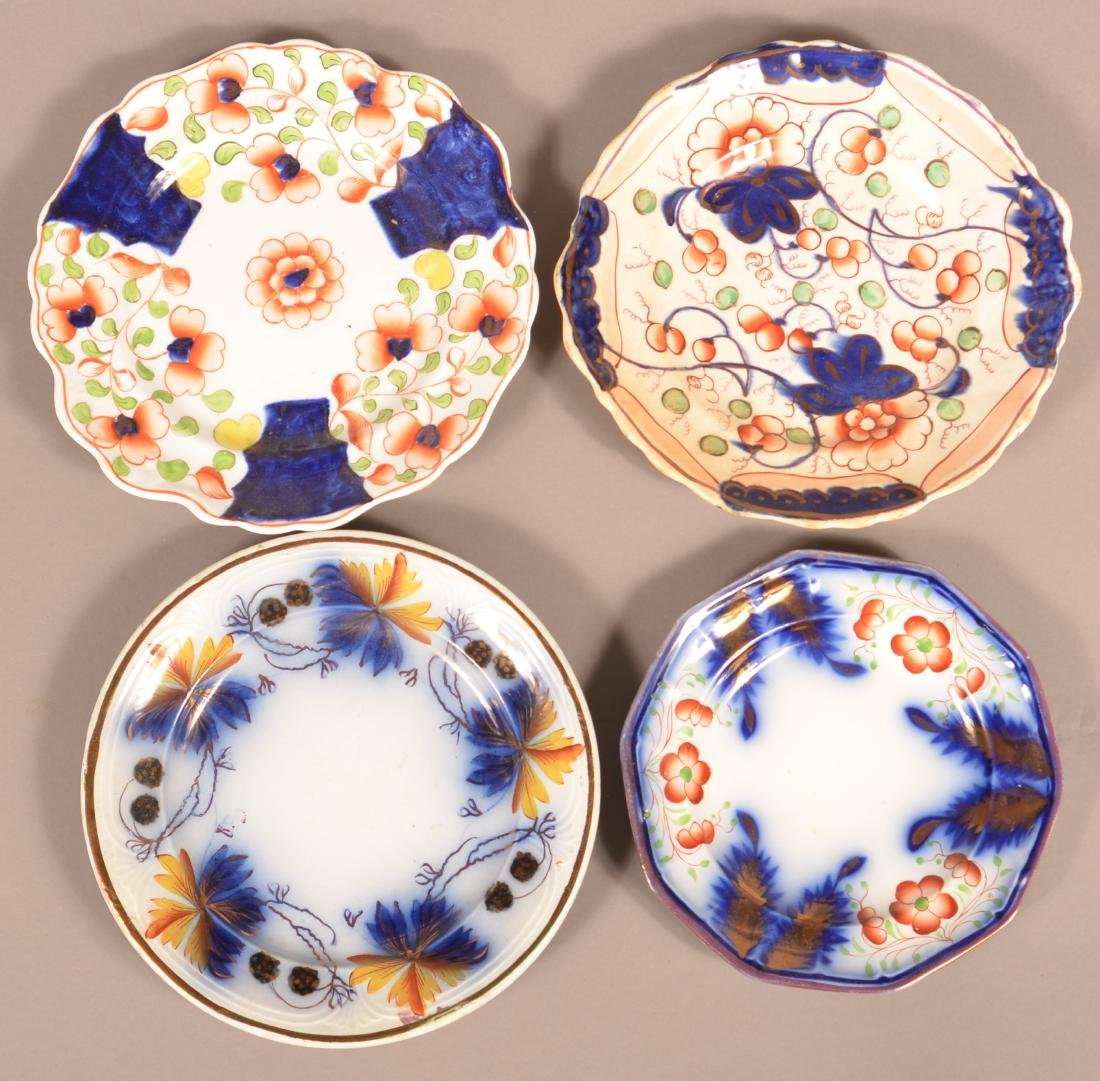 Four Various Gaudy Welsh/Dutch China Plates.
