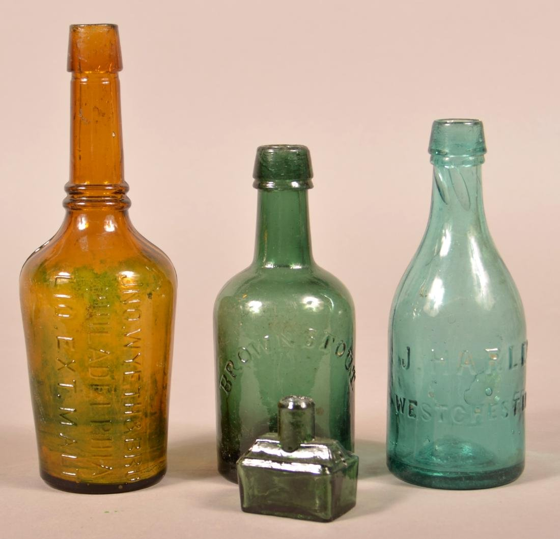 Four Various Antique Glass Bottles.