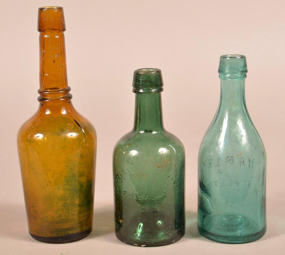 Four Various Antique Glass Bottles. - 2