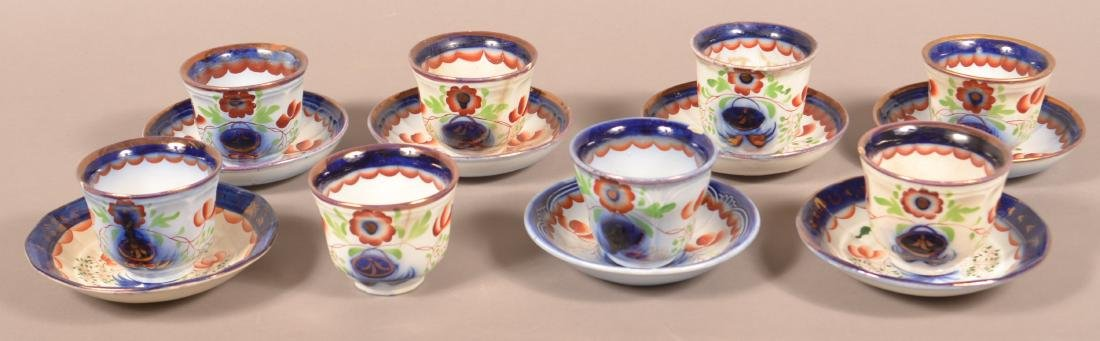 15 Gaudy Ironstone China Cups and Saucers.