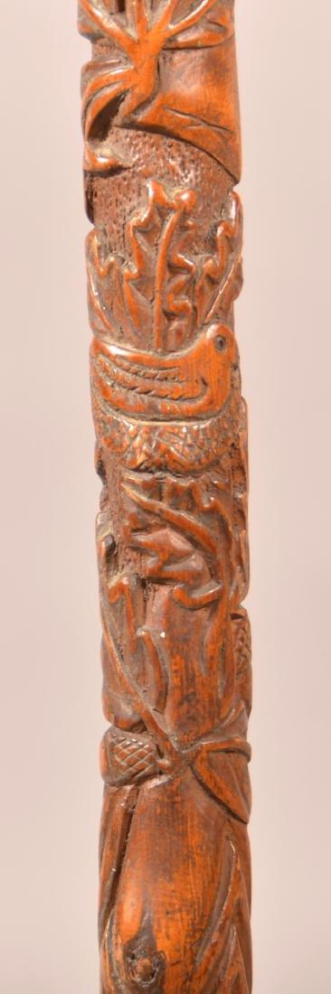 """PA Carved Folk Art Cane Signed """"G. Astle, 1903"""". - 4"""