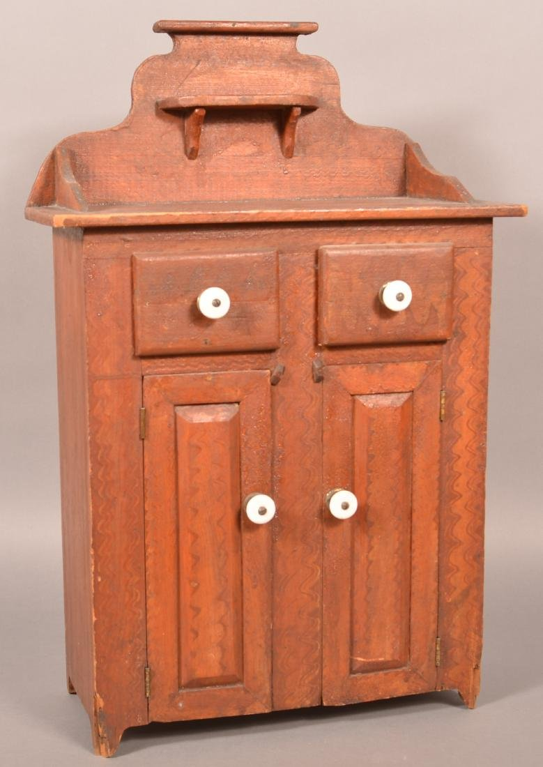 Antique PA Softwood Miniature Jelly Cupboard.