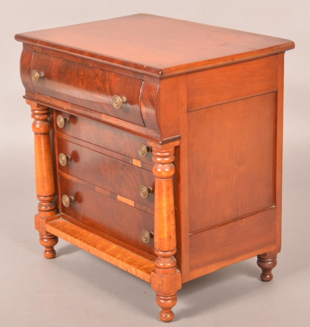 Pennsylvania Empire Miniature Chest of Drawers. - 2
