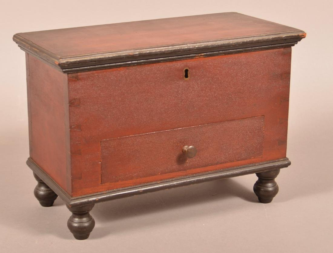 Lancaster County, PA Miniature Blanket Chest.