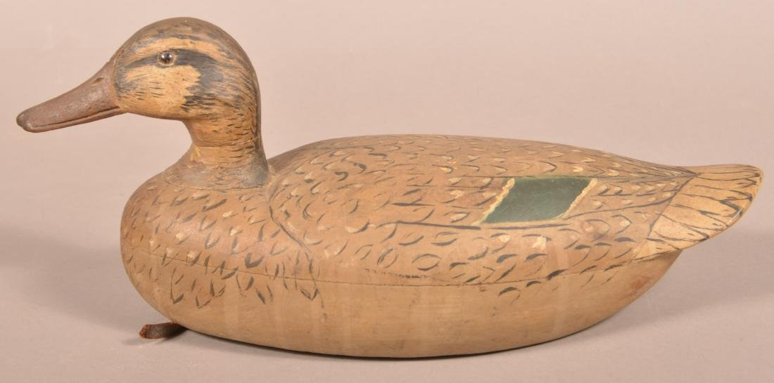 Fine Carved and Painted Mallard Hen Decoy. - 2