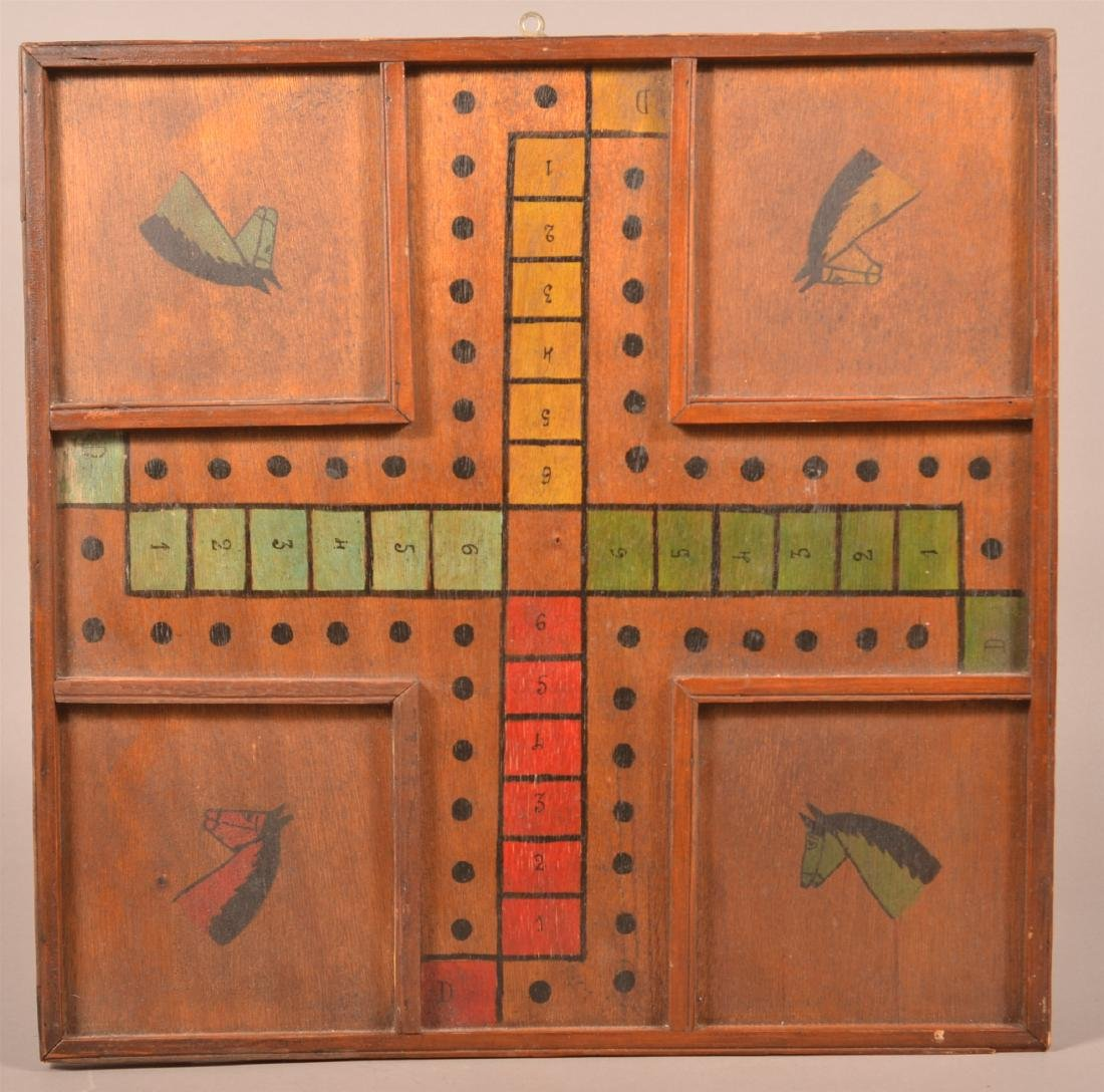 Painted Gameboard with Horse Head Corners.