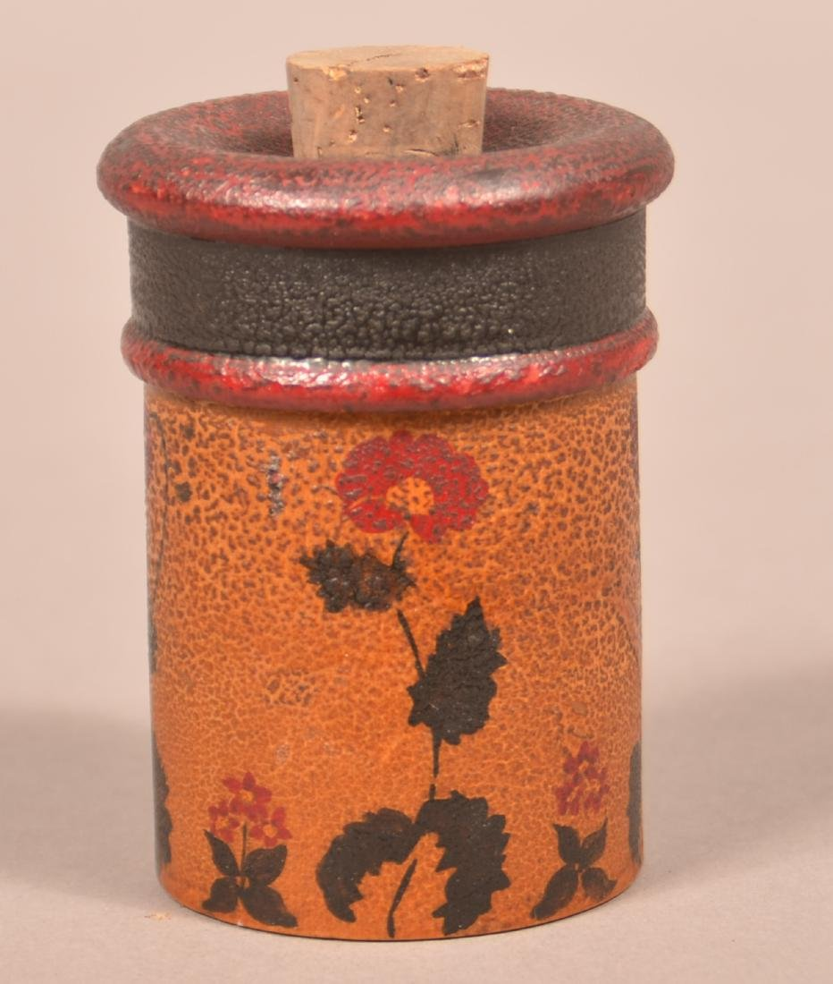 Turned and Painted Wood Saffron Canister.