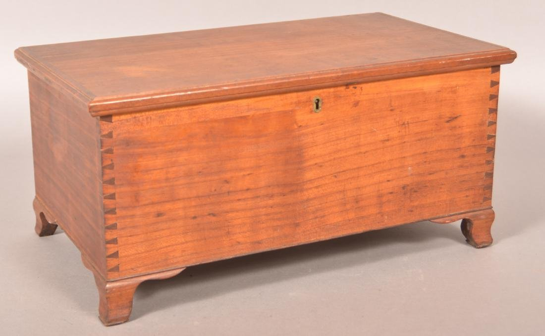 Chippendale Style Cherry Miniature Blanket Chest.
