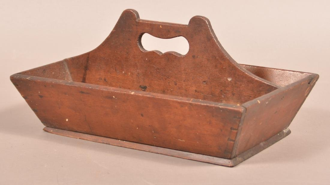 Pennsylvania 19th Century Cherry Cutlery Box.