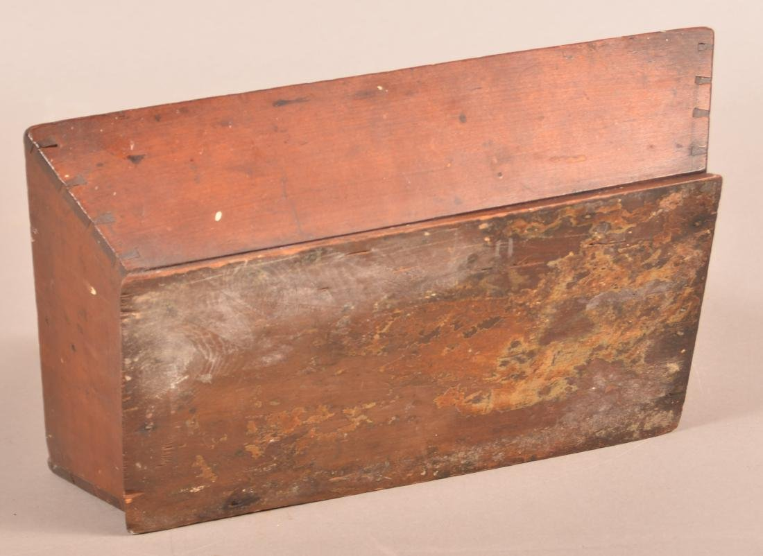 Pennsylvania 19th Century Cherry Cutlery Box. - 4