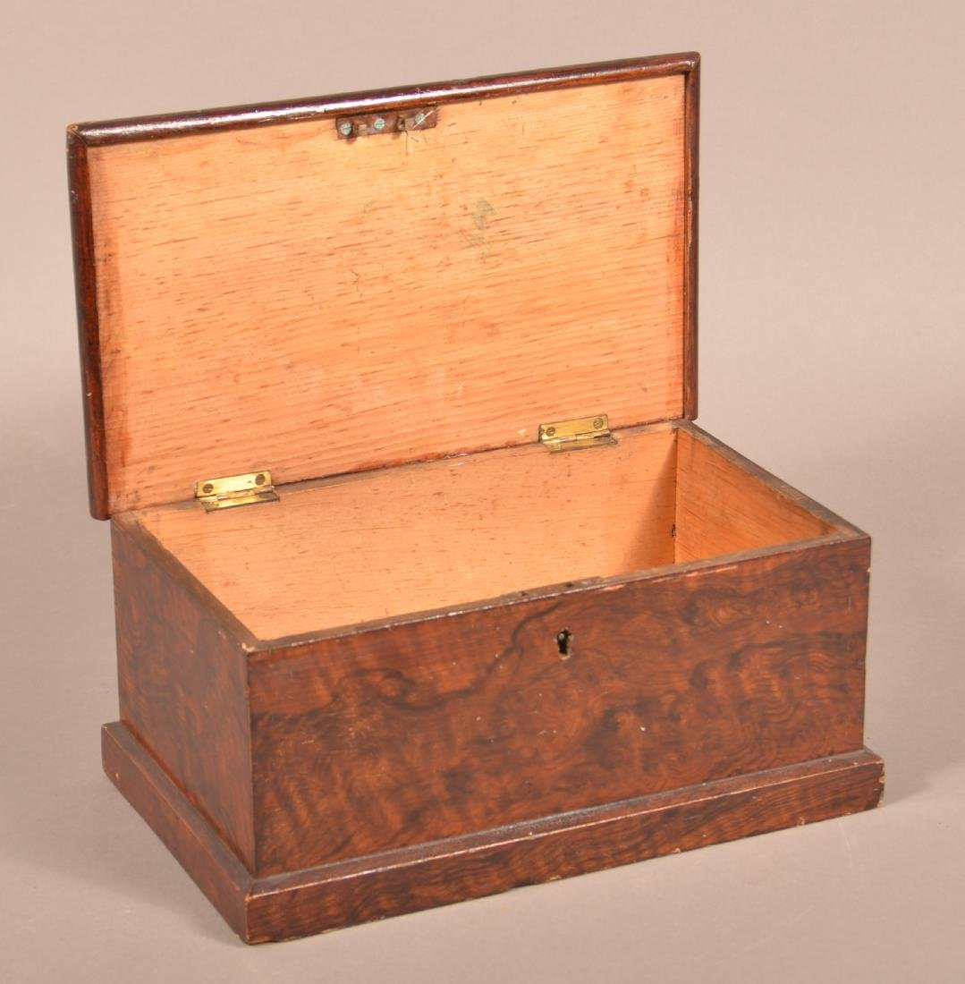 Faux Rosewood Paint Decorated Document Box. - 2