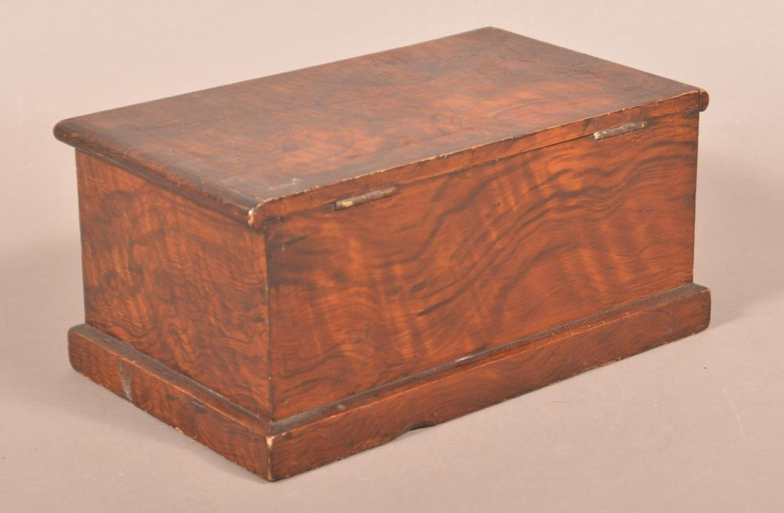Faux Rosewood Paint Decorated Document Box. - 3