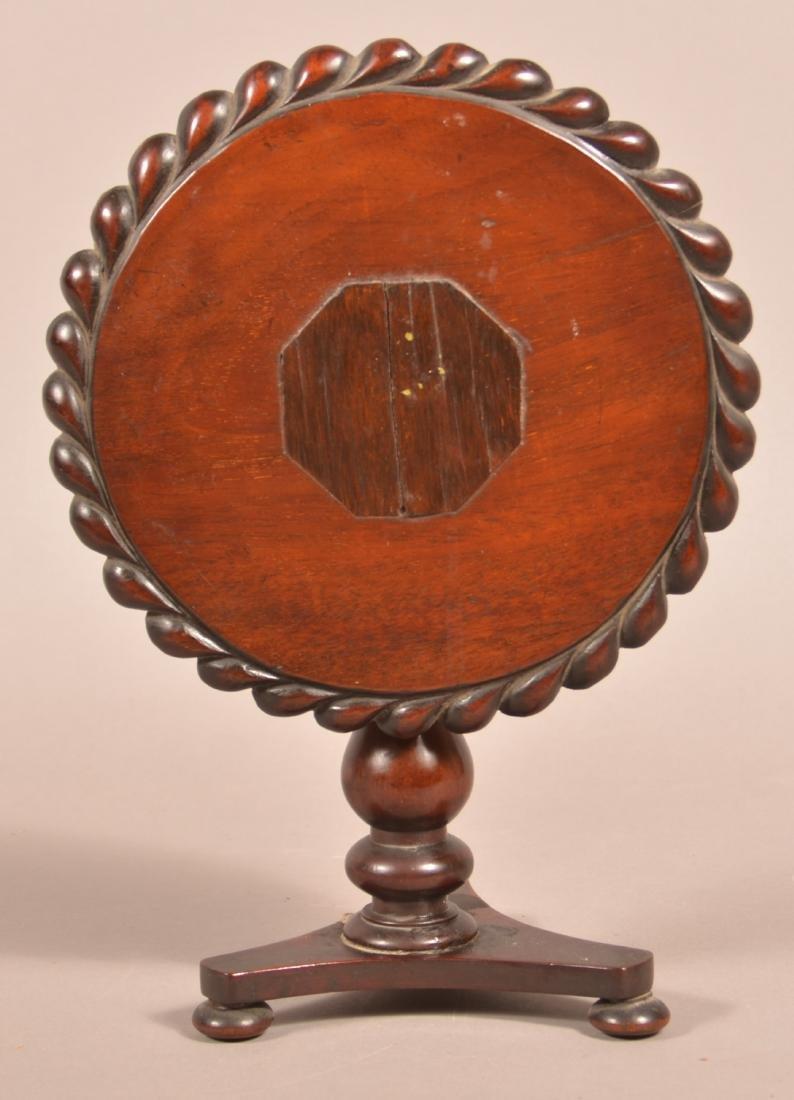 19th Century Miniature Mahogany Tea Table.