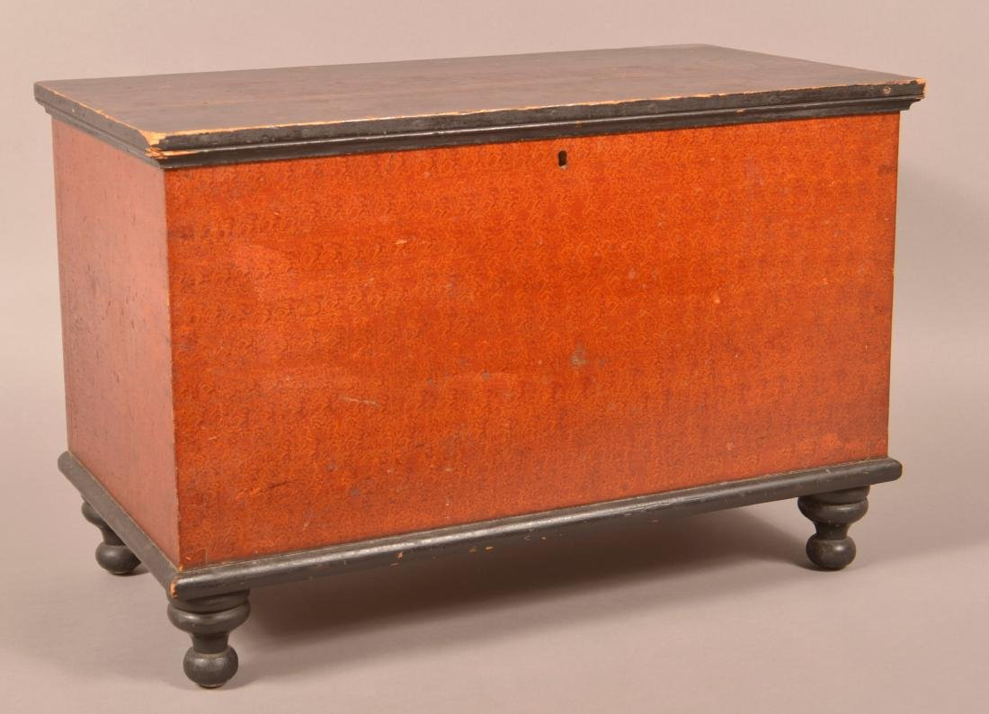 PA Miniature Paint Decorated Blanket Chest.