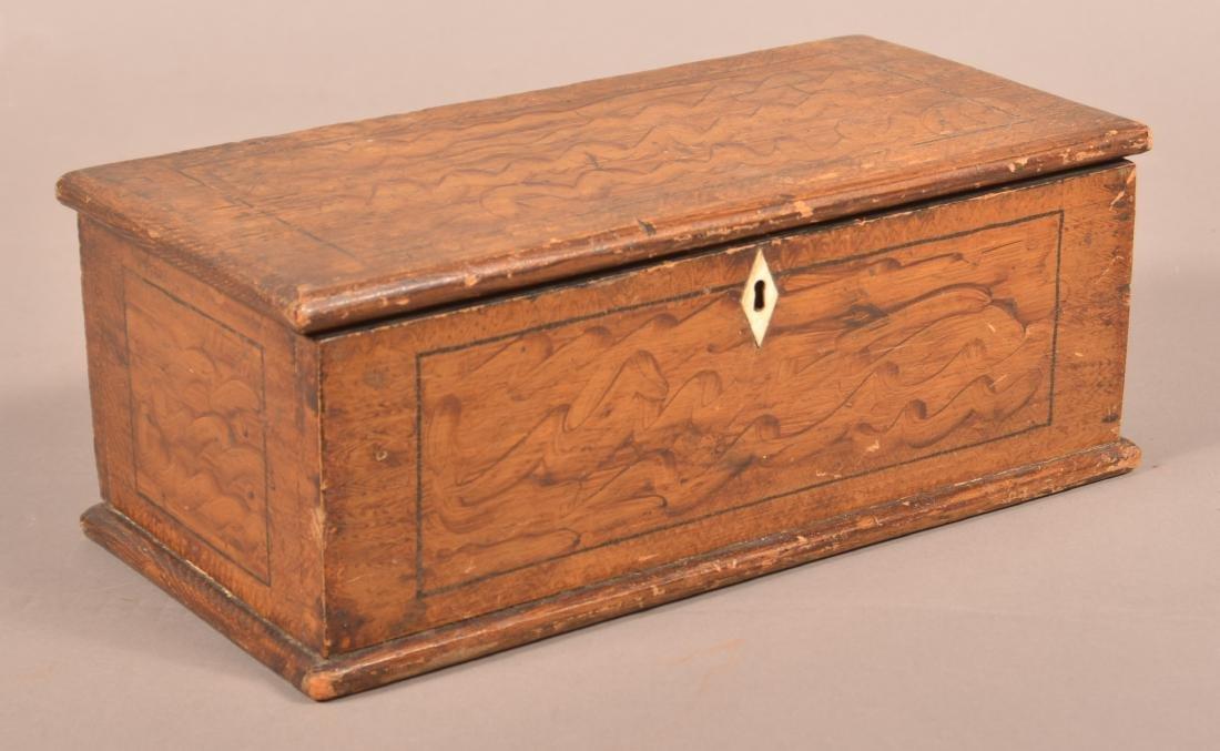 Antique PA Grain Paint Decorated Document Box.