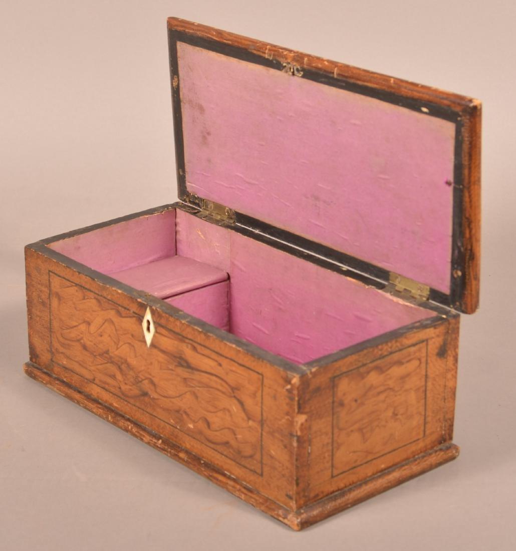 Antique PA Grain Paint Decorated Document Box. - 2