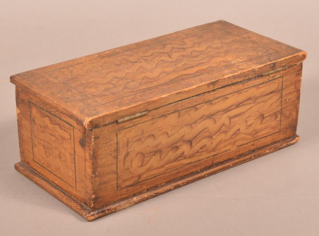 Antique PA Grain Paint Decorated Document Box. - 3