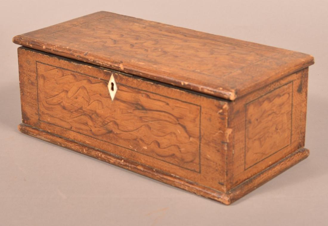 Antique PA Grain Paint Decorated Document Box. - 4