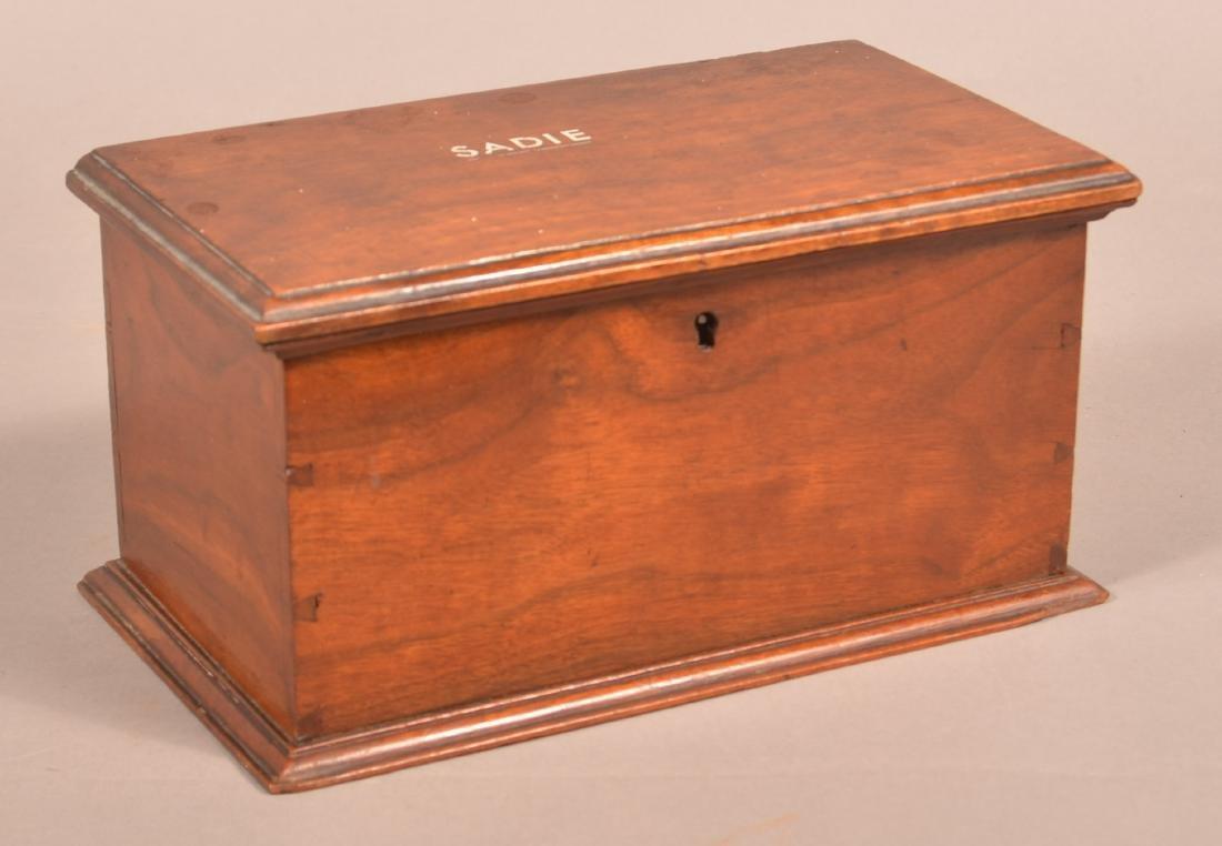 19th Century Mahogany Trinket Box.