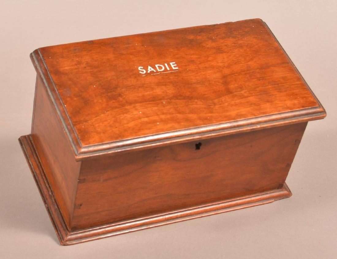 19th Century Mahogany Trinket Box. - 4