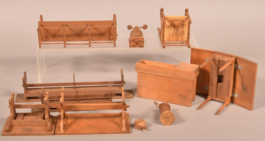 11 Pieces of WPA Made Miniature Furniture. - 2