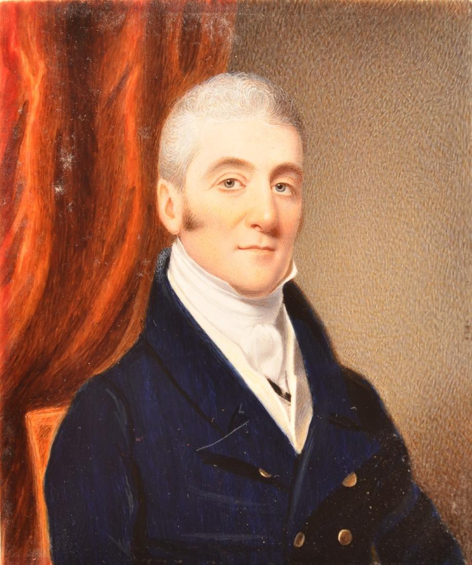 School of Thomas Sully Miniature Portrait Painting.