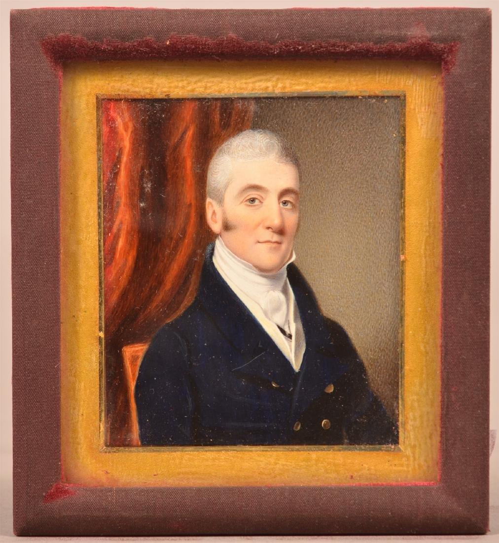 School of Thomas Sully Miniature Portrait Painting. - 2