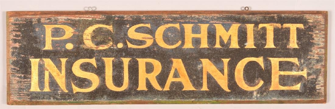P.C. SCHMITT INSURANCE Single Sided Trade Sign.